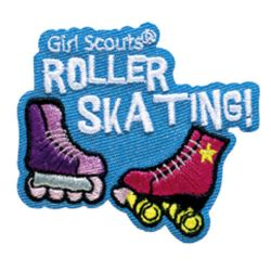 girl scout roller skating