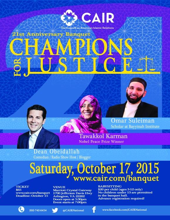 2015 CAIR Banquet Flyer