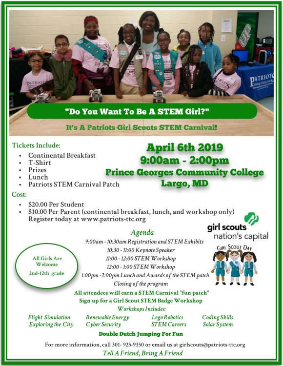 Patriot Girl Scout STEM Carnival